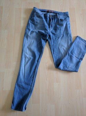 Jeans met rechte pijpen blauw