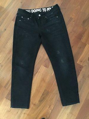 Gstar Jeans boyfriend noir coton