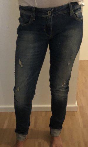 Guess Pantalone a vita bassa blu