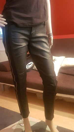 Guess Drainpipe Trousers black cotton