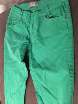 H&M Pantalone a zampa d'elefante verde
