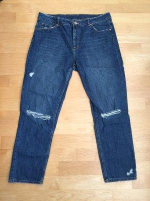 H&M Divided Boyfriend jeans donkerblauw