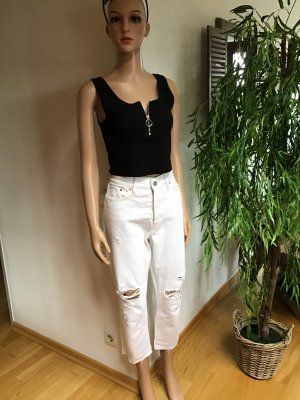 H&M Hoge taille jeans wit