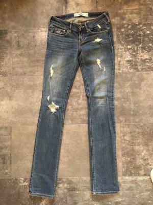 Hollister Jeans a gamba dritta blu