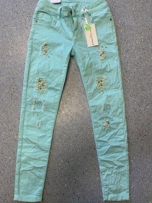 Jeans cigarette bleu clair