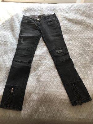 Liebeskind Berlin Jeans da motociclista grigio-nero