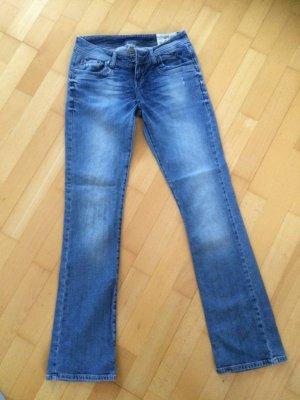 LTB Jeans a zampa d'elefante blu scuro-blu