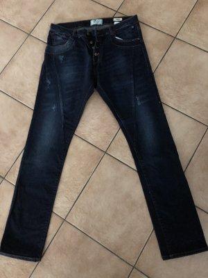 LTB Pantalone largo blu-blu scuro