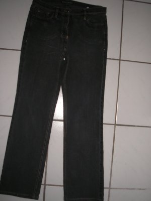 Luisa Cerano Jeans bootcut gris anthracite coton