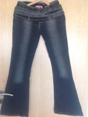 Jeans von Madonna mit breitem Gürtel Größe 28/32