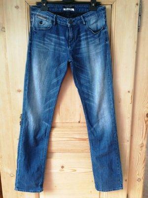 Maison Scotch Jeans met rechte pijpen blauw