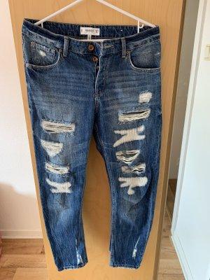 Mango Jeans boyfriend bleu foncé coton