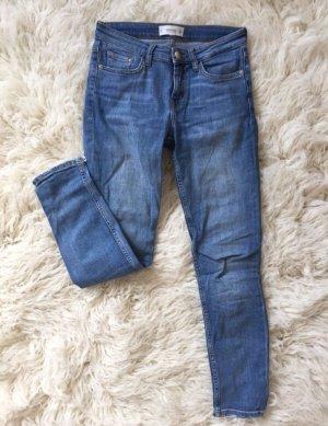 Mango Jeans cigarette bleu azur