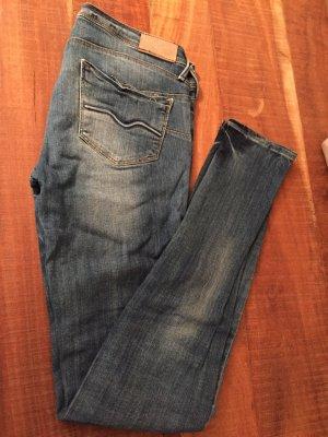 Mango Jeans Pantalone a sigaretta blu scuro-grigio scuro