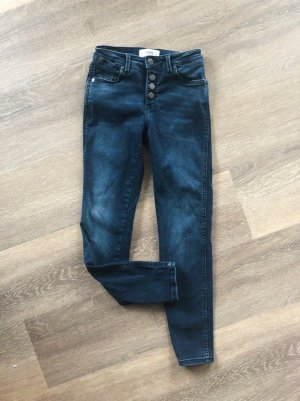 Mango Tube jeans donkerblauw-blauw Gemengd weefsel