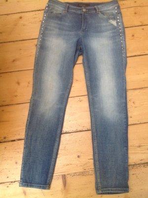 Marc Cain 7/8 Length Jeans cornflower blue mixture fibre