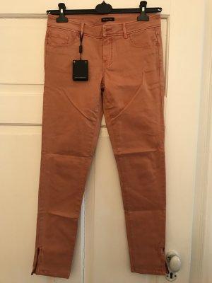Massimo Dutti Low Rise jeans licht Oranje Katoen