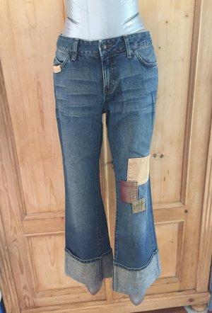 Jeans von Mavi mit Kordsamt-Patches - Gr. W31/L32