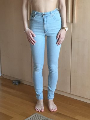 Hoge taille jeans azuur
