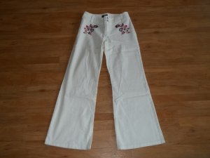 Jeans von Mexx in Gr. 36 weiß mit Stickerei
