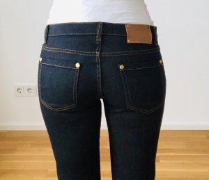 Jeans flare bleu foncé