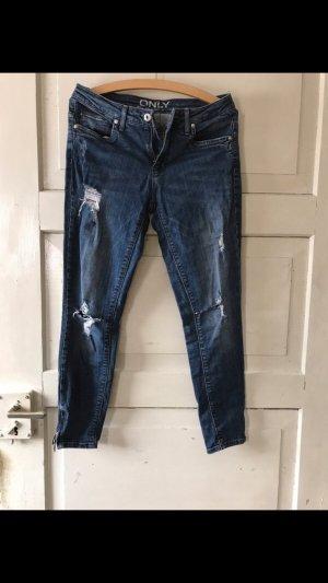Only Jeans cigarette bleu acier
