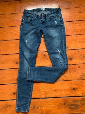 Only Low Rise Jeans dark blue