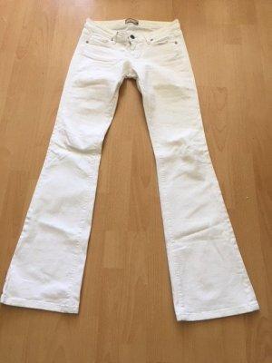 Paige Boot Cut Jeans white cotton