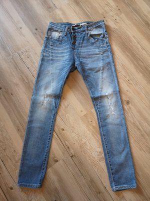 Please Jeans a gamba dritta blu-azzurro