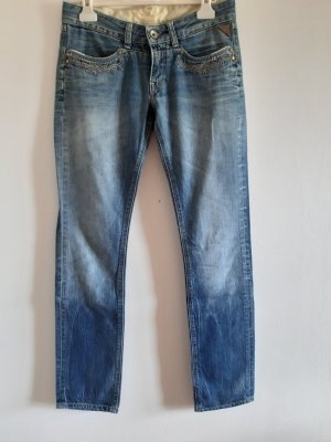 Replay Biker jeans lichtblauw