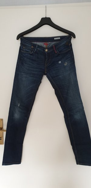 Replay Tube jeans donkerblauw