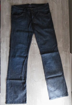 s.Oliver Boot Cut Jeans dark blue mixture fibre
