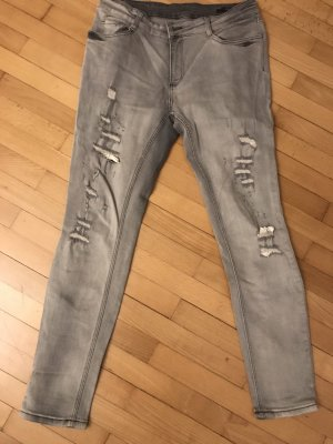 Oui Set Stretch Jeans light grey