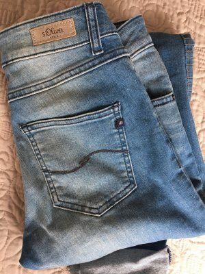 Jeans von sOliver im used-Look