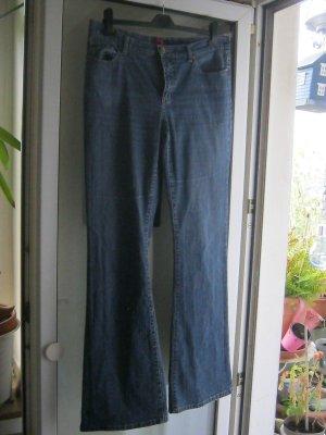Street One Jeans a zampa d'elefante blu