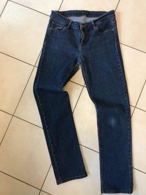 Strenesse Pantalon cinq poches bleu acier coton