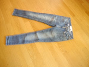100% Fashion Low Rise jeans leigrijs Katoen