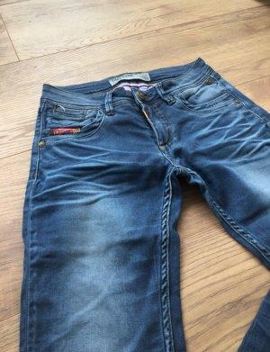 Timezone Slim jeans blauw-donkerblauw