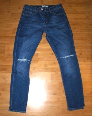 Jeans von Topshop mit im Used Look