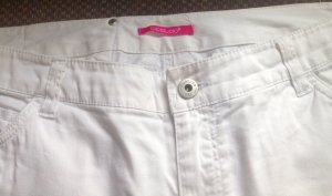 3 Suisses Jeans a gamba dritta bianco Cotone