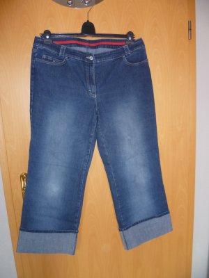 Jeans 3/4 bleu coton