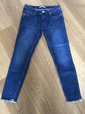 Zara Basic Tube jeans donkerblauw