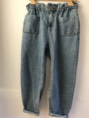 Zara Jeans boyfriend bleuet coton