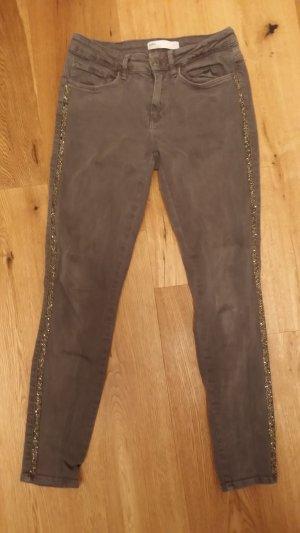 Jeans von Zara, dunkelgrau, Gr 38