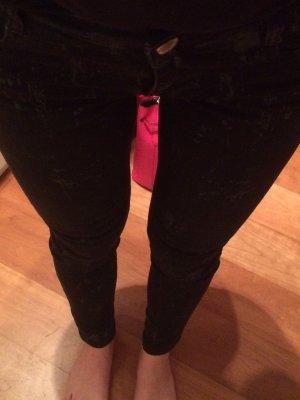 Zara Jeans cigarette noir-argenté