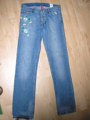 Jeans W29 L32 H&M mit Stickerei