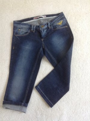 Jeans / wadenlang / blau / Gr. 34