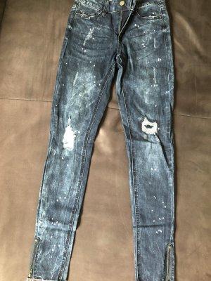 Pieces Biker jeans veelkleurig