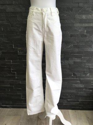 Jeans weiß mit Bestickung Gr. 34