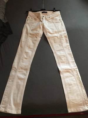 Jeans taille basse blanc
